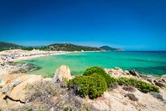 Panorama of Chia coast, Sardinia, Italy. Royalty Free Stock Photos