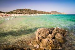 Panorama of Chia coast, Sardinia, Italy. Stock Image