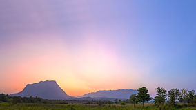 Panorama of Chiang Dao big mountain in twilight - Chiang Mai, Thailand Stock Photo
