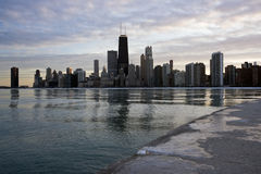 Panorama of Chicago stock photo
