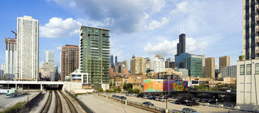 Panorama of Chicago Stock Image