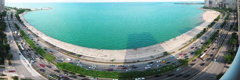 Panorama, Chicago water front.  Stock Photography