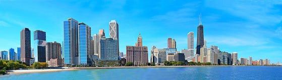 Panorama Chicagos Lakeshore Stockfoto