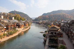Panorama chinês da cidade de phoenix foto de stock royalty free