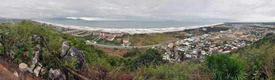 Panorama of China beach in Da Nang, Vietnam Royalty Free Stock Photo