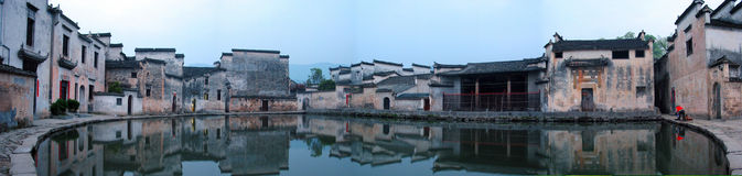 Panorama of a Chinese Village Royalty Free Stock Photos