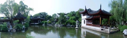 Panorama chino del jardín fotografía de archivo
