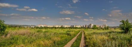 Panorama Chisinau Moldavia Buiucani fotografia stock libera da diritti