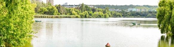 Panorama Chisinau Moldavien Buiucani Royaltyfri Foto