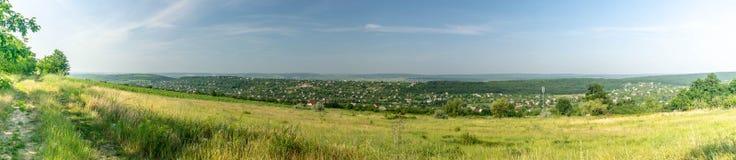 Panorama Chisinau Moldavien Buiucani Fotografering för Bildbyråer