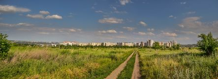Panorama Chisinau Moldova Buiucani zdjęcia stock