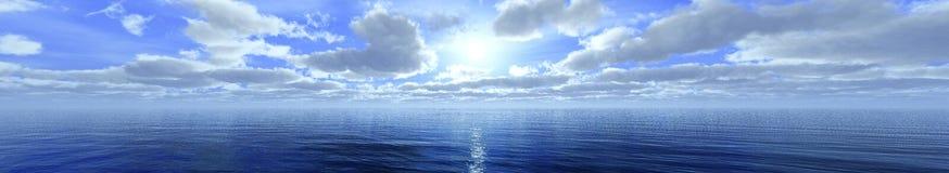 Panorama chmury ilustracja wektor