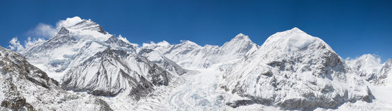 Panorama Cho Oyu. Panorama View of Cho Oyu from Base Camp Royalty Free Stock Image