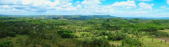 Panorama of Chocolate Hills in Philippines Royalty Free Stock Images