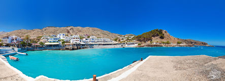 Panorama of Chora Sfakion Stock Photography