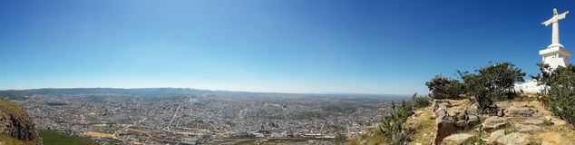 Panorama of Christ the Redeemer or Christo Redentor statue in Lubango, Angola Stock Photo