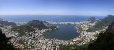 Panorama from Christ the Redeemer statue royalty free stock images