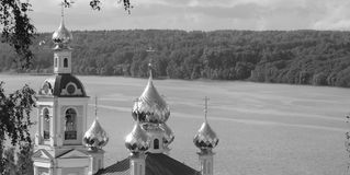 Panorama of the Church Royalty Free Stock Image