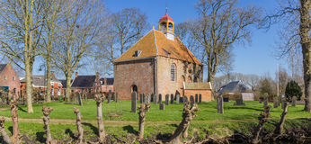Panorama of the church in the center of Thesinge Royalty Free Stock Photos