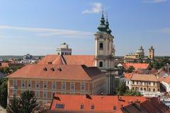 Panorama a cidade medieval de Eger hungria Foto de Stock