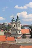 Panorama a cidade medieval de Eger hungria Fotos de Stock Royalty Free