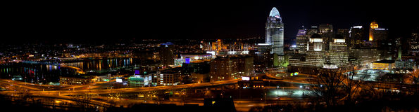 Panorama of Cincinnati Skyline Royalty Free Stock Images