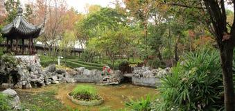 Panorama cinese del giardino Fotografie Stock Libere da Diritti