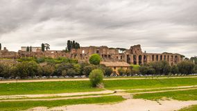 Panorama of Circo Massimo in Rome, Italy Royalty Free Stock Image