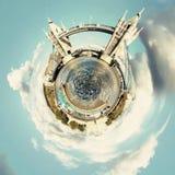 Panorama circulaire du ` s de Londres la plupart des attractions célèbres photographie stock