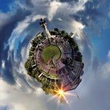 Panorama circulaire du ` s de Londres la plupart des attractions célèbres image stock