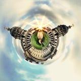Panorama circulaire du ` s de Londres la plupart des attractions célèbres photos libres de droits