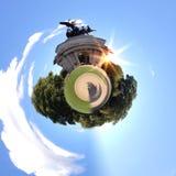 Panorama circulaire du ` s de Londres la plupart des attractions célèbres photographie stock libre de droits
