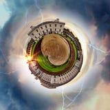 Panorama circulaire du ` s de Londres la plupart des attractions célèbres photo libre de droits