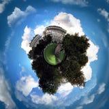 Panorama circulaire du ` s de Londres la plupart des attractions célèbres images libres de droits