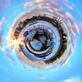 Panorama circulaire du ` s de Londres la plupart des attractions célèbres photos stock