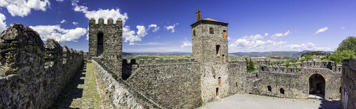 Panorama of the citadel, Braganca, Portugal. Ancient town of Braganca, Tras-os-Montes Province, northern Portugal Stock Photo