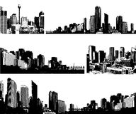 Panorama cities. Stock Photography