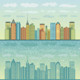 Panorama of cities Royalty Free Stock Images