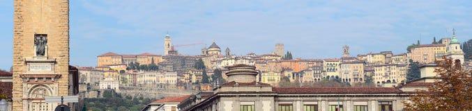 Panorama Citta Alta, Bergamo, Lombardia, Italia Fotografia Stock Libera da Diritti