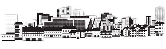 Panorama of city Stock Images