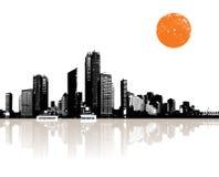 Panorama of city Stock Photo