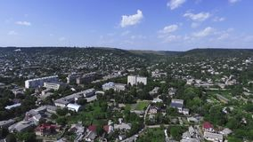 Panorama of the city aerial view stock video
