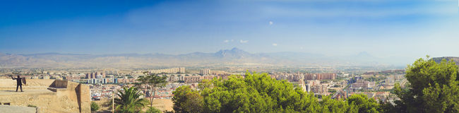 Panorama of the city of Alicante Royalty Free Stock Images