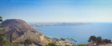 Panorama of the city of Alicante Stock Image