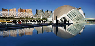 Panorama of City of Arts and Science, Valencia Royalty Free Stock Images