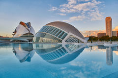 Panorama of City of Arts & Sciences complex in Valencia Stock Image