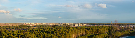 Panorama of the city of Asbest, Russia, Urals, Royalty Free Stock Photography