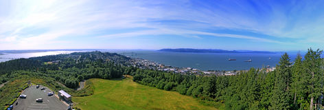 Panorama of City of Astoria Oregon Royalty Free Stock Photos