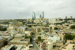 Panorama of the city of Baku, Azerbaijan Royalty Free Stock Image