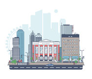 Panorama of the city Royalty Free Stock Images
